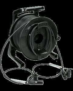 doppelt geschirmtes DMX, AES/EBU und mikrofon kabeltrommel system mit 3-poligen XLR