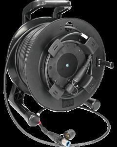robustes SMPTE kamera anschlusskabel auf trommel mit Neutrik opticalCON ADVANCED DUO
