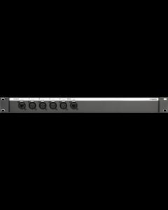 """19"""" CATLink 4-kanal audio stagebox mit XLR 3p. female und parallel D-Sub 15p."""