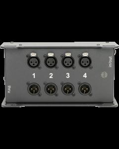 CATLink 4-kanal audio stagebox mit 2x etherCON und 4  4 XLR 3p. im TrussLink gehäuse