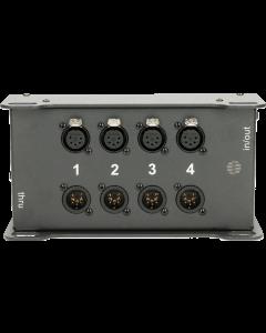 CATLink 4-kanal DMX stagebox mit 2x etherCON und 4  4 XLR 5p. im TrussLink gehäuse
