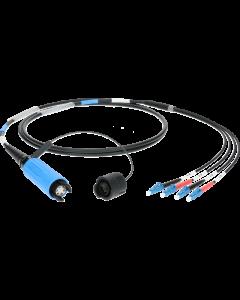 FiberLink SmartBeam QUAD auf 4x LC single-mode breakout kabel
