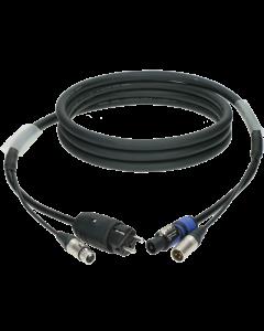 audio und strom (3G2,5) hybrid kabel mit XLR 3p. und Schuko M => powerCON A