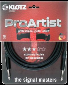 PRO ARTIST professionelles gitarren kabel mit schwarzen klinkensteckern