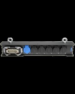 Harting lastverteilerbox 6 kanal - 1x HAN 16E male - 6x Schuko female