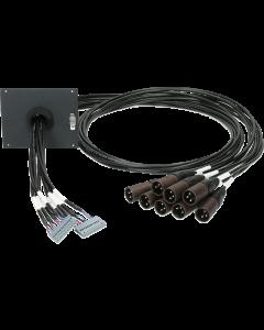 SUB patchmodule: 2x 12p. SIL stecker F - 8x XLR 3p. M
