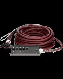 RamCAT 5-fach netzwerk multicore system, hochflexibles RC5-LB5V kabel, TrussLink stagebox, standard ausführung