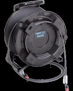 flexibles, doppelt geschirmtes RamCAT kabeltrommel system mit AWG24 massivleiter und RJ45 steckverbindern